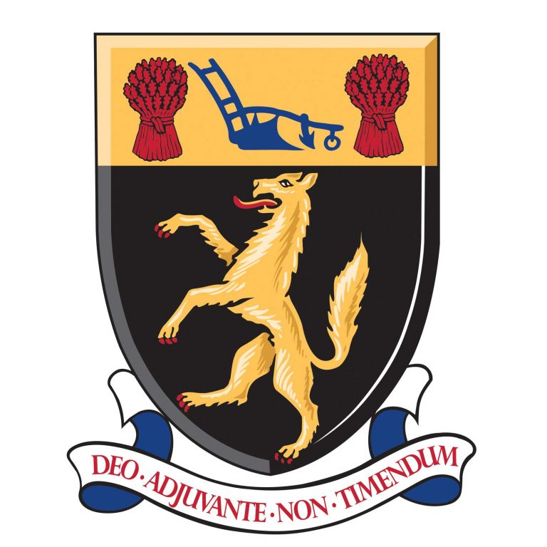 Crest of Louth Town Council Deo adjuvante non timendum