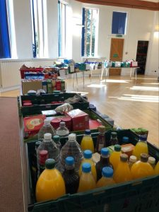 Food bank layout at Trinity Centre