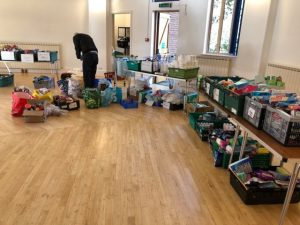 Food Parcels being organised