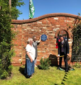 Unveiling of plaque for the victims of the Louth Flood