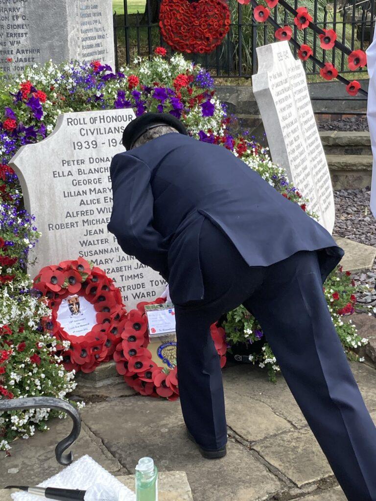 Louth & District Royal British Legion lay wreath
