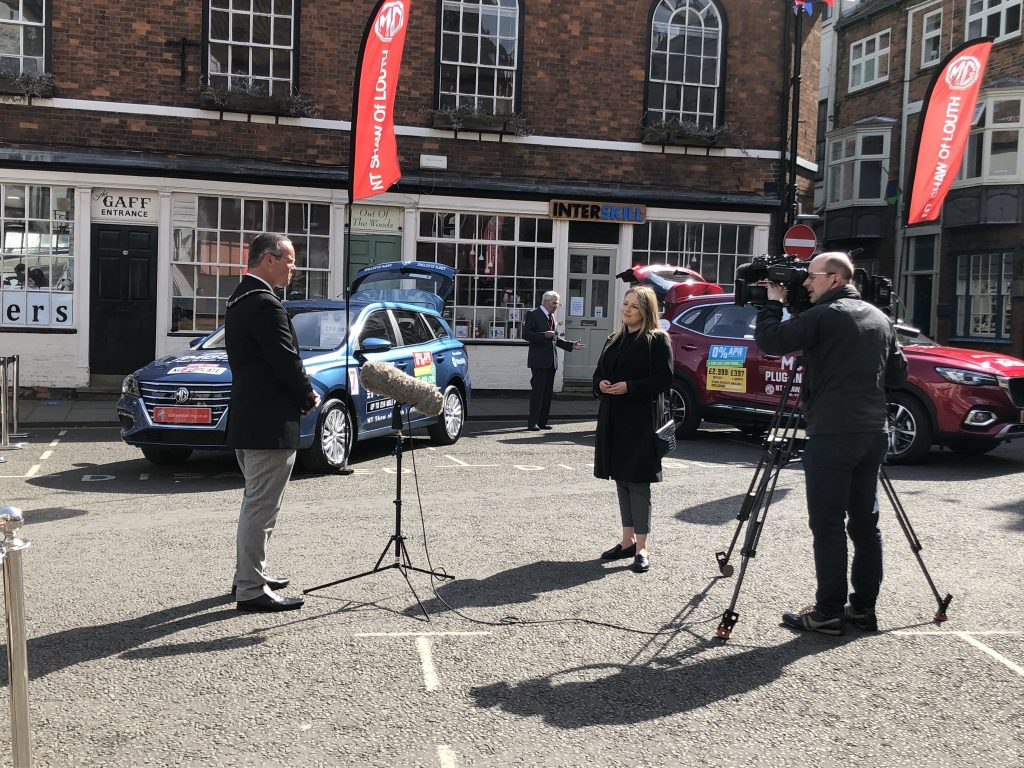 The Mayor of Louth is interviewed by BBC and ITV about the passing of HRH The Duke of Edinburgh