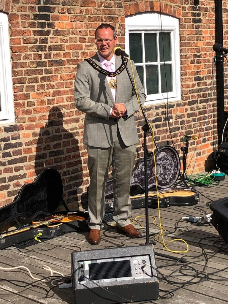 Mayor opening Louth Navigation Trust Festival