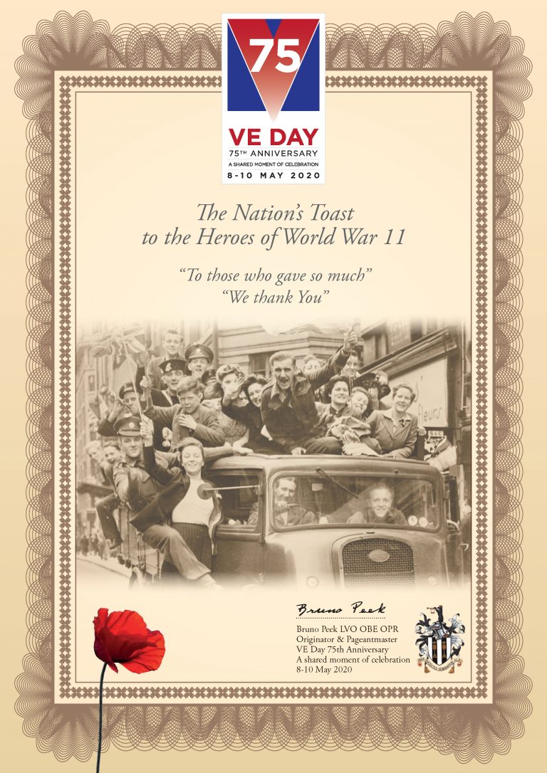 The Nations Toast to the Heroes Certificate