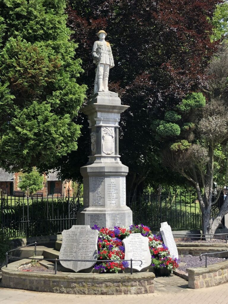 War Memorial in Louth, July 2021
